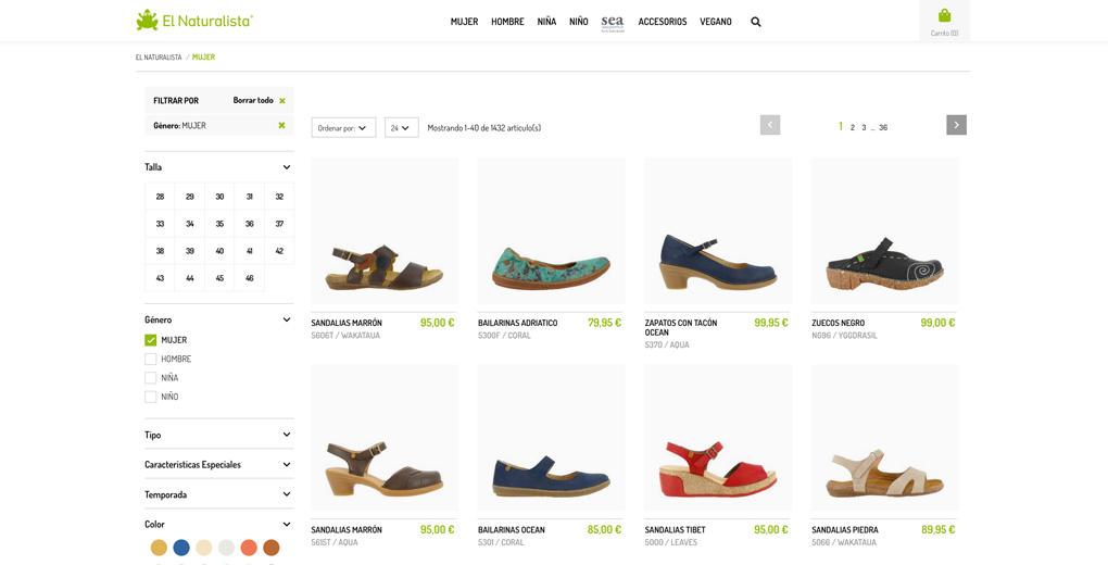 Sector calzado. el naturalista